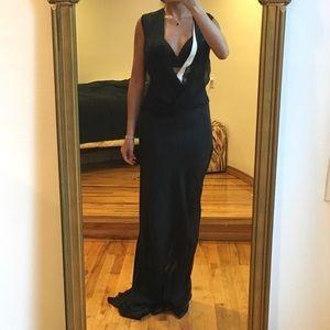 J. MENDEL BLACK LONG DRESS